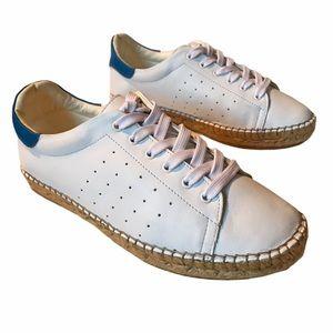 Rare! Andrew Stevens Espadrille Sneaker White 38